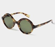 Tortoishell Circle and Diamond Sunglasses