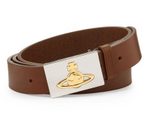 Square Gold Buckle Belt 82010002 Tan