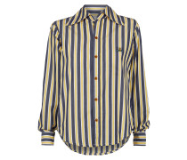 Piano Shirt Blue/Yellow Stripes