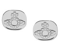 Milano Stud Earrings Silver Tone