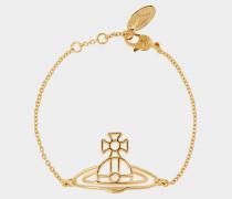 Thin Lines Flat Orb Bracelet Gold
