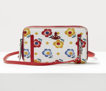 Derby Double Zip Round Crossbody Bag Andreas' Flowers