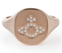 Sterling Silver Milano Ring Pink Gold