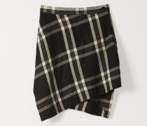 Mini Infinity Skirt Black/White Tartan