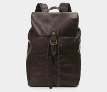 Heath Man Backpack Dark Brown