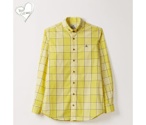 Two Button Krall Shirt Yellow Gingham