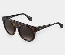 Tortoiseshell Bi-Layer Sunglasses