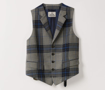 Classic Waistcoat Blue Prince Of Wales Check