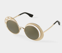 Sun and Moon Sunglasses Gold