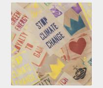 Climate Revolution Beige Handkerchief