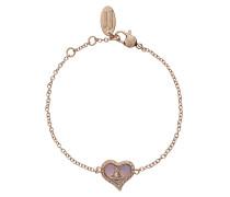 Petra Bracelet Pink Gold Tone