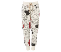 Jersey Skinny Trousers Greggio Print