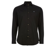 Two Button Cutaway Shirt Black