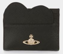 Opio Saffiano Heart Card Holder Black