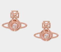 Nora Earrings Pink Gold Tone