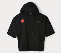 SHORT-SLEEVE RUGGED PULLOVER HOODIE TIME TO ACT BLACK