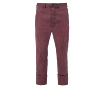 Cropped JB Trousers Bordeaux