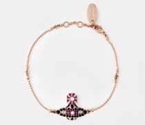 Gabriella Bas Relief Bracelet Pink Gold Tone