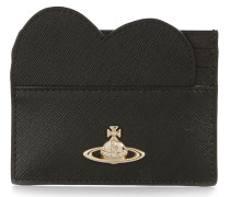 Opio Saffiano Heart Card Holder 321528 Black
