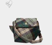 Tintwistle Medium Shoulder Bag Green Tartan