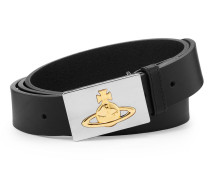 Square Gold Buckle Belt 82010002 Black