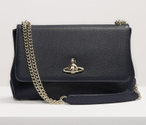 Balmoral Large Bag With Chain And Flap Blue