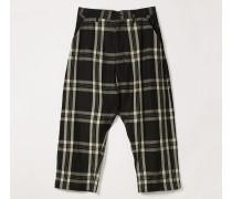 Samurai Trousers Black/White Tartan
