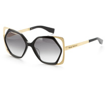 Cut-Out Frame Sunglasses VW972S-1BMG Gold/Black