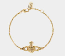 Mini Bas Relief Chain Bracelet Gold/Light Topaz
