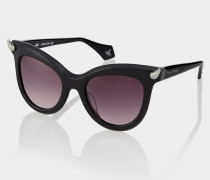 Black Diamante Horn Sunglasses