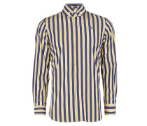 Firm Krall Shirt Blue/Yellow Stripes
