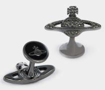 Mini Bas Relief Cufflinks Black Diamond