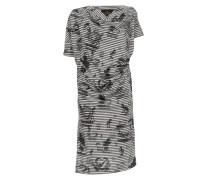 Grateful Print Drape Dress Grey