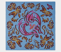 Scribble Heart Blue Handkerchief