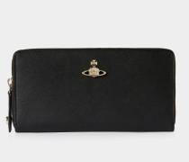 Pimlico Zip Round Wallet Black
