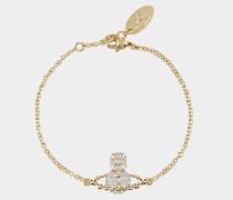 Lena Bas Relief Bracelet Silver/Golden Tone