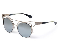 Cut Out Cat-Eye Sunglasses Gunmetal Gold VW936S03