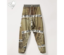 Ela Trousers Chinese Drawing Print