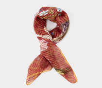 Andreas and Vivienne Floral Orb Foulard Red