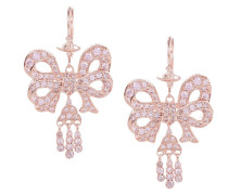 Elinor Small Drop Earrings Pink Gold Plated