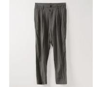 George Trousers Grey/Black Stripes