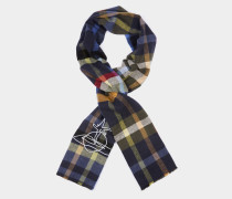 Checked Orb Scarf Blue