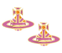 Jack Enamel Earrings Pink