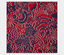 Geometric Navy Blue Handkerchief