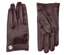 Biker Gloves Burgundy