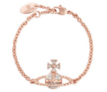 Mayfair Bas Relief Bracelet Pink Gold Tone