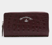 Anglomania New Zip Round Wallet Red