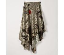 Blanket Skirt Chinese Peony Print