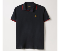 Squiggle Polo Shirt Navy
