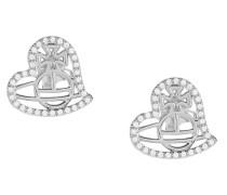 Giuseppa Stud Earrings Silver Tone